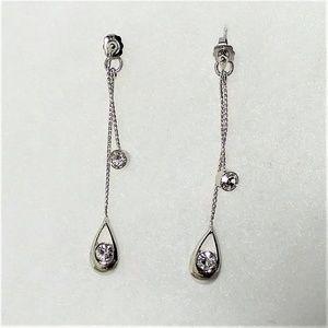 New Lia Sophia cubic zirconia drop earrings